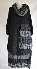 STUNNING ZEDD.PLUS DRESS/JACKET & SKIRT BARELY BLACK  XL/XX    3 PIECE SETL