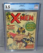 THE X-MEN #3 (Blob, Frederick J. Dukes 1st app) CGC 3.5 VG- Marvel Comics 1964