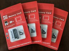 4 PCS ByteNovel 8GB Micro SD Card 8 gb  TF Class 10 Android Nintendo Etc microSD
