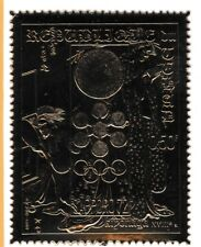 Chad 7300 - 1972 SAPPORO OLYMPICS  embossed in GOLD FOIL perf unmounted mint