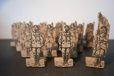 LOT DE 16 SOLDATS EN BOIS - SOLDATS SECOND EMPIRE - JOUET ANCIEN OLD TOY