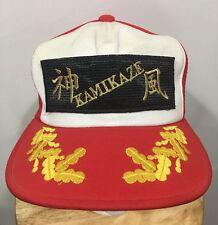 Vintage Japanese KAMIKAZE PATCH MESH SNAPBACK TRUCKER HAT Military Style Japan