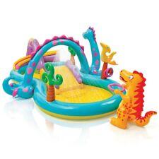 Piscina gonfiabile gioco per bambini dinosauro piscina con scivolo intex 57135
