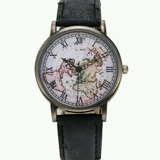 Hot Watch World Map Design Analog Quartz military Casual Wristwatch