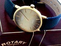 Rotary gents Classic Gold plated quartz watch with box retro excellent condition