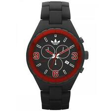New Adidas Cambridge Chronograph Black Acrylic Band Watch Date 45mm ADH2602 $115