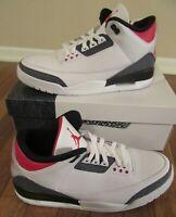Nike Air Jordan 3 Retro SE Denim Size 11.5 White Fire Red Black CZ6431 100 NIB