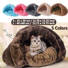 Pet Cat Dog House Kennel Puppy Cave Sleeping Beds Soft Mat Pad Winter Warm Nest