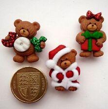 Beary Feliz Navidad Craft Botones