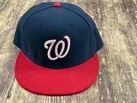 Washington Nationals Blue/Red MLB Baseball Hat - New Era - 7 ¼