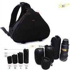 Waterproof Digital SLR Camera Shoulder Sling Backpack Bag + Neoprene Lens Pouch