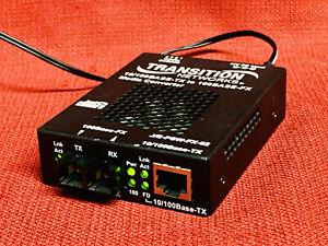 Transition Networks J/E-PSW-FX-02 Media Converter 10/1000BASE-TX to 100BASE-FX