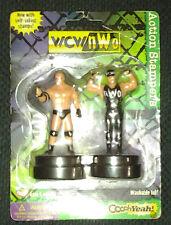 WCW NWO Hulk Hogan Goldberg Stamper Combo pack. WWF LJN WWE Hasbro Mint in Pack