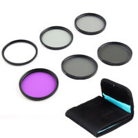 55MM Lens Filter Kit UV CPL Polarizer FLD ND 2 4 8 for Camera Canon Nikon Sony