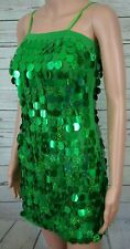 Glamour Costumes Dance Dress Adult S Green Beaded Discs Recital  Competition