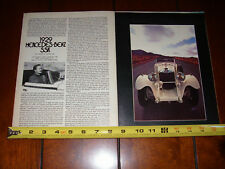 1929 MERCEDES BENZ SSK - ORIGINAL 1972 ARTICLE
