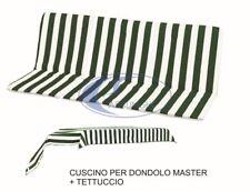 Ricambio Cuscino Imbottito Dondolo 4 Posti + Telo per Tettuccio Misure cm 175X61