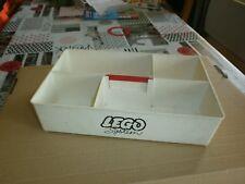 rare cette ancien Storage box de rangement blanc pour pièces LEGO (lot7)