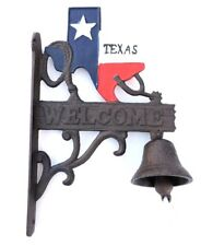 Texas Bell Welcome Dinner & Door Wall Mount New Cast Iron Rustic Old Fashion