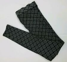 Victoria's Secret PINK Cotton Legging Black With Diamond Tribal Print