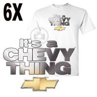 It's A Chevy Thing Licensed Bowtie Graphic Logo White T Shirt 6X 6XLarge - SALE