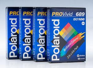Polaroid ProVivid 689 Film (4 Packs) / NO RESERVE