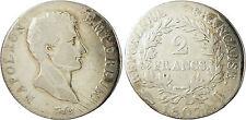 NAPOLEONE I° , 2 FRANCHI ARGENTO TESTA NUDA , 1807 I LIMOGES , RARO