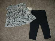 Carters Baby Girl Leopard Ruffle Pants Set Size 9 Months 9M Outfit 6-9 mos NWT