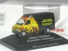 TOP: Herpa Mercedes Benz Sprinter Münkel Kachelofen Kaminbau in PC-OVP