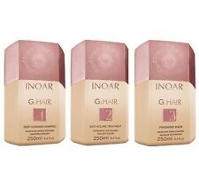 Inoar Ghair Brazilian Keratin Treatment Kit 3 x 250 ML, Brazilian Blow Dry