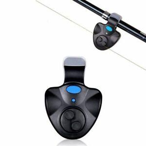 Electronic Fishing Bite Alarm Loud Sound Night LED Indicator Clip On Rod Tools