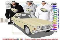 76-77 HX HOLDEN SEDAN HOODIE ILLUSTRATED CLASSIC RETRO MUSCLE SPORTS CAR