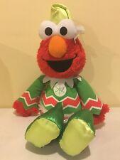 Elmo Christmas Elf Talking Singing Shaking Sesame Street Mattel Rare Plush 2007