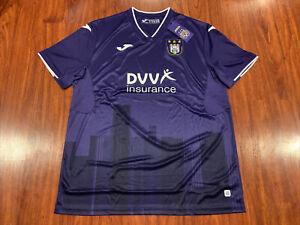 2020-21 Joma RSC Anderlecht Men's Home Purple Soccer Jersey 2XL XXL Belgium