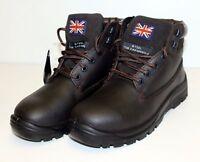 Britannia Bulldog brown S1P steel toecap/midsole safety work boot UK STOCK EN345