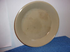 """VINTAGE WESTERN STONEWARE 9"""" TAN  OVEN PROOF PIE DISH..MONMOUTH, ILL, U.S.A. #2"""