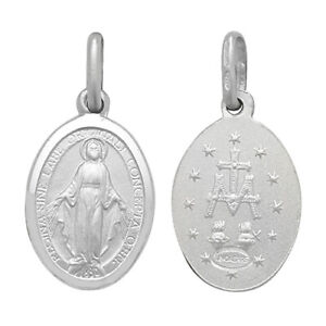 925 Genuine Sterling Silver St Mary Oval Pendant S. M. L