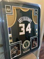 Giannis Antetokounmpo Authentic Autograph Framed Jersey COA Bucks!!!