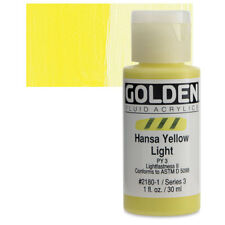 Golden® Fluid Acrylics 1oz. Hansa Yellow Light - 1 oz 21801 Ser 3 NEW