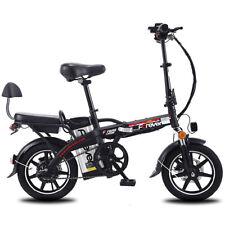 "14"" Folding Adult Electric Bike Double Disc Brake Electric Car 350W 48V 40-50km"