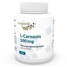 L-carnosine 500mg 60 Capsules Vita World Biodisponibilité Élevée
