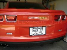 GM LICENSED, 2010+ CAMARO REAR LETTERING MIRROR STAINLESS STEEL