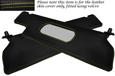 YELLOW STITCH FITS RENAULT ALPINE GTA V6 2X SUN VISORS LEATHER COVERS ONLY