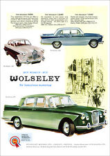 WOLSELEY 6/99 15/60 AND 1500 RETRO A3 POSTER PRINT FROM CLASSIC 60'S ADVERT