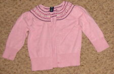 Gap 2 Yr Pink Sweater w Burgandy Design Cs