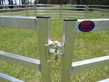 10 Portable Aluminium Sheep Goat Alpaca Panels 2 metres x 1.2 metres with gate