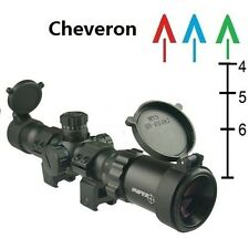 1-4x28 Long Eye Relief Scope, 30mm Chevron Reticle Scope Rings Included