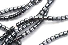 Magnetic Tiny Hematite Drum Beads 16 Inch Strand