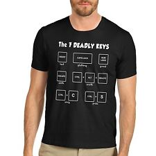 Men's The 7 Deadly Keys Funny Geeky T-Shirt