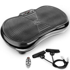 FITFIU Fitness PV-100 NEGRA 400W Plataforma Vibratoria Oscilante con Cuerdas - Negra